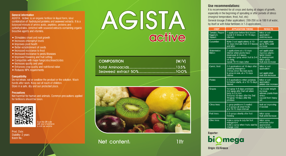 Agista Active Label