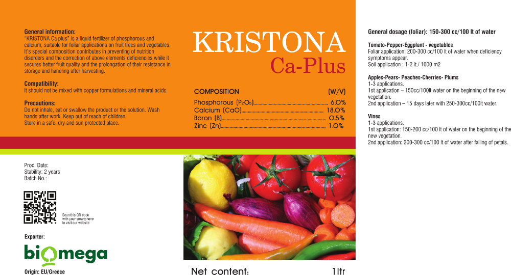 Kristona Ca-Mg Label